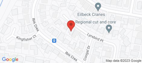 Location map for 3 Lyrebird Place Orange