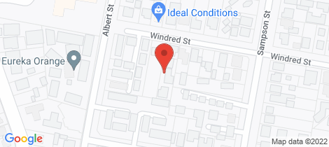 Location map for 10D Windred Street Orange
