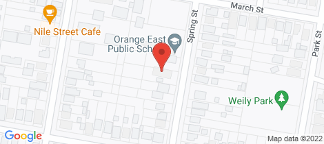 Location map for 41 Spring Street Orange