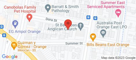 Location map for 22 Dora Street Orange
