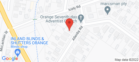 Location map for 19 Allenby Road Orange