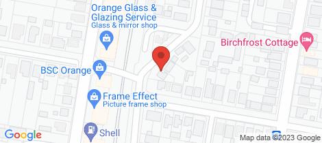 Location map for 28 Endsleigh Avenue Orange