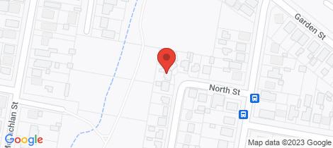 Location map for 43 North Street Orange