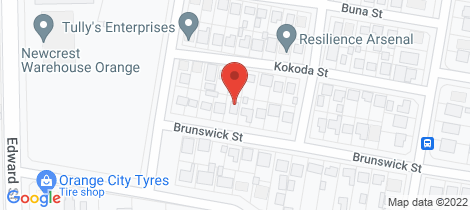 Location map for 9 Brunswick Street Orange
