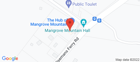Location map for 1 Waratah Rd Mangrove Mountain