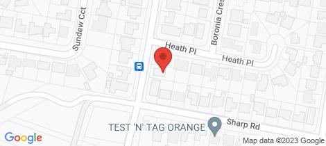 Location map for 18 Anson Street Orange