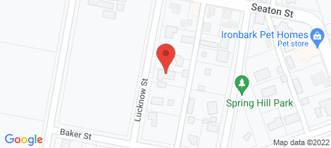 Location map for 12 Lucknow Street Spring Hill