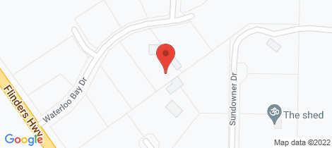 Location map for Lot 2/5 WATERLOO BAY ROAD Elliston