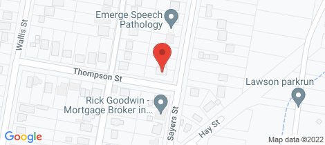 Location map for 12 Sayers Street Lawson