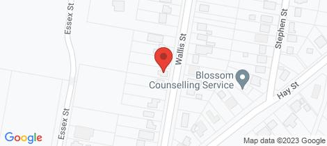 Location map for 20 Wallis Street Lawson