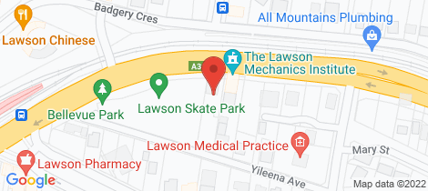 Location map for 2/285 Great Western Highway Lawson