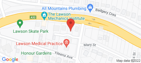 Location map for 280 Great Western Highway Lawson
