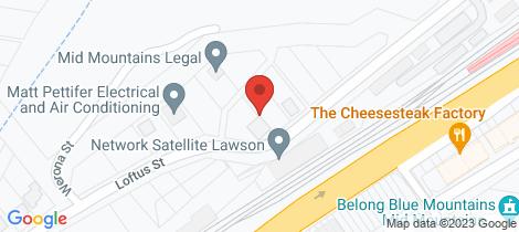 Location map for 25 Loftus Street Lawson