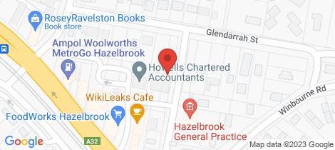 Location map for 14 Glendarrah Street Hazelbrook