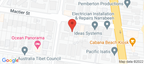 Location map for 3/16 Mactier Street Narrabeen
