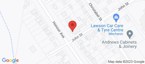 Location map for 50 Honour Avenue Lawson