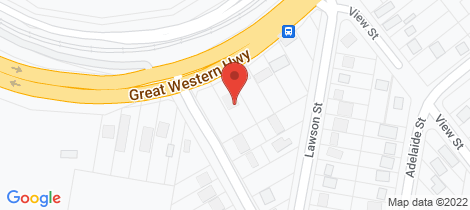 Location map for 327 Great Western Highway Lawson