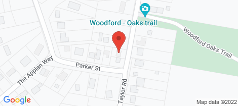Location map for 9 Taylor Road Woodford