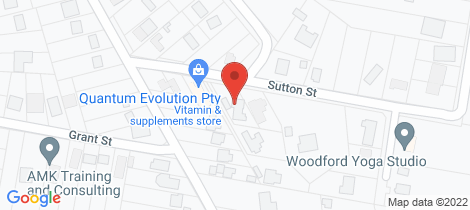 Location map for 17 Sutton Street Woodford