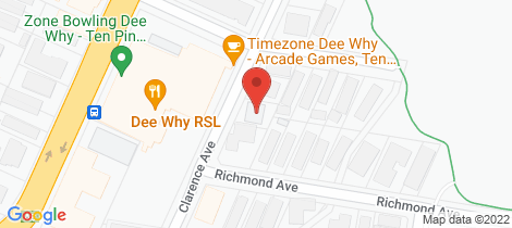 Location map for 1/7 Clarence Avenue Dee Why