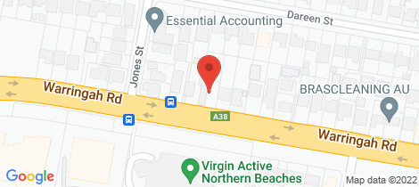 Location map for 280 Warringah Road Beacon Hill