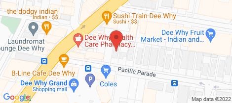 Location map for 2/14 Pacific Parade Dee Why