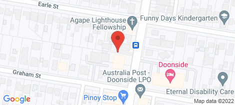 Location map for 38a Hillend Rd Doonside