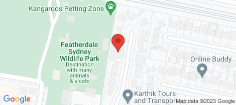 Location map for 8A Lynwood Avenue Doonside