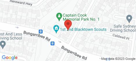Location map for 37 Craiglea Street Blacktown