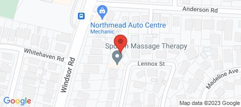 Location map for 16 Lennox Street Northmead