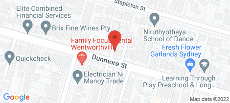 Location map for 151A Dunmore Street Wentworthville