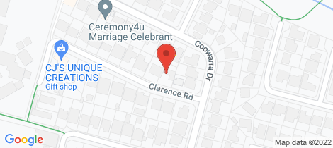 Location map for 25 Clarence Road St Clair