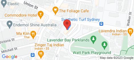 Location map for 81/7 Lavender Street Lavender Bay