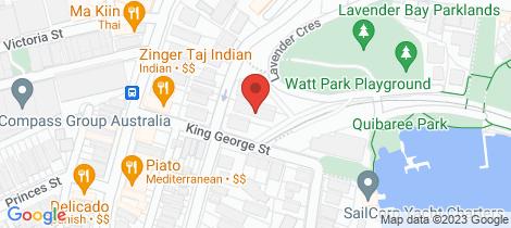 Location map for 5/21 Waiwera Street Lavender Bay