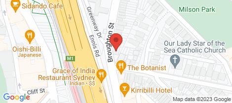Location map for 3/51 Broughton Street Kirribilli