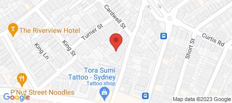 Location map for 313/22 Doris St North Sydney