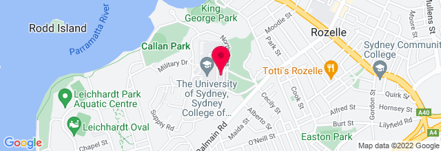 Map for Sydney College of the Arts