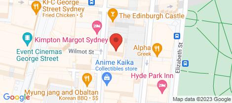 Location map for 62/308 Pitt Street Sydney