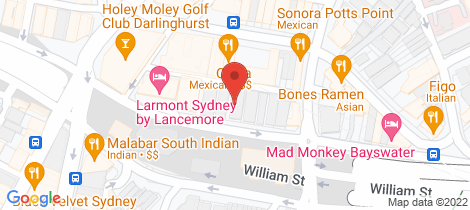 Location map for 18/30 - 32 Kings Cross Road Potts Point