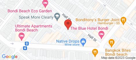 Location map for 8/106-110 Hall Street Bondi Beach