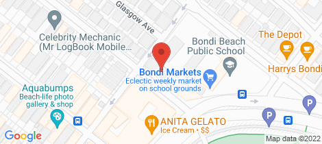 Location map for 17/7 Beach Road Bondi Beach