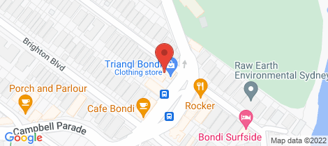 Location map for 3/300 Campbell Parade Bondi Beach