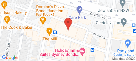 Location map for 106 -110 Hall Street Bondi Beach
