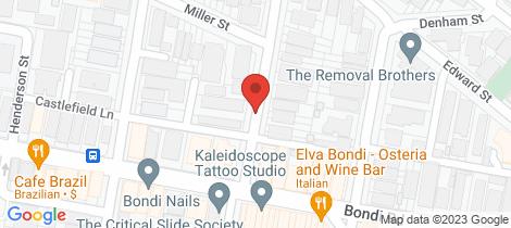 Location map for 4/4 Castlefield Street Bondi
