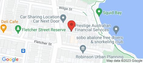 Location map for 7/24 Sandridge Street Bondi