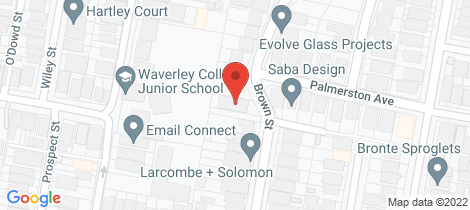 Location map for 34 Brown Street Bronte