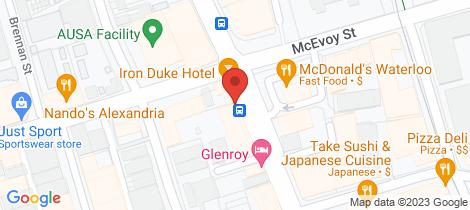 Location map for 203/222 Botany Road Alexandria