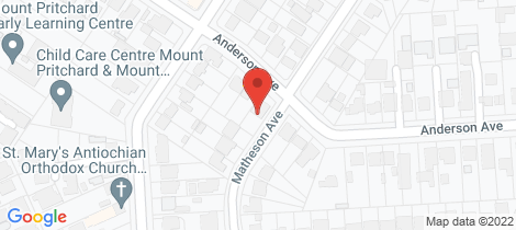 Location map for 118 Anderson Avenue Mount Pritchard
