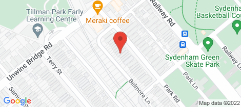 Location map for 84 Park Road Sydenham