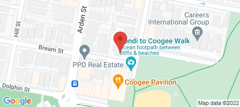 Location map for 5/120 Beach Street Coogee